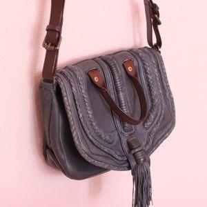 Anthologie navy leather Crossbody Bag